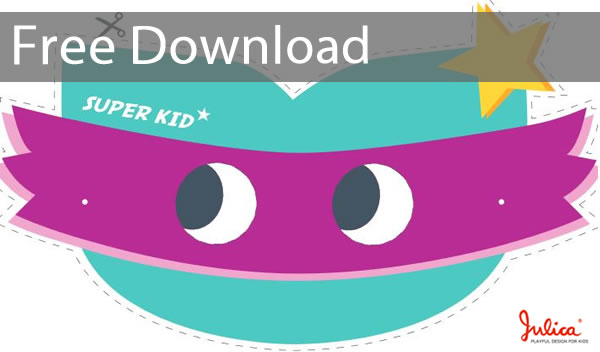 Bastelvorlage Super Kid zum Kindertag - Free Download